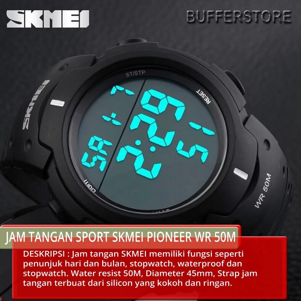 Jam Tangan SKMEI ORIGINAL Pioneer Sport Watch Water Resistant 50m - DG1068    Anti Air b2c8feed56