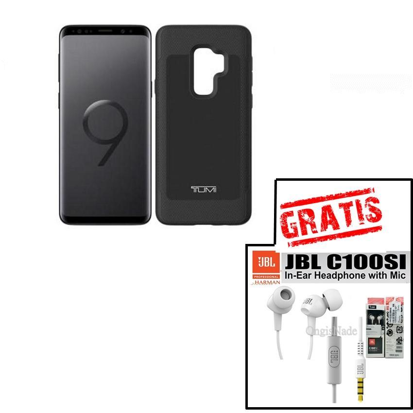 Tumi Case for Samsung Galaxy s9+ s9 Plus Case Premium Gratis Handsfree JBL C100Si original - Black