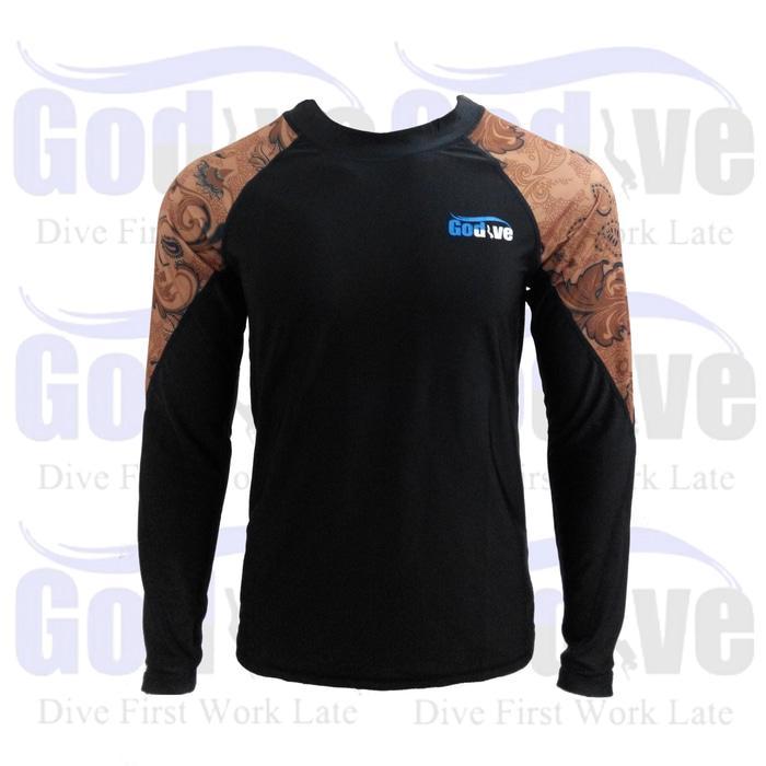 PROMO Alat Selam Godive Diving Snorkeling Long Sleeve Rashguard SL-014 - hKUY3ba