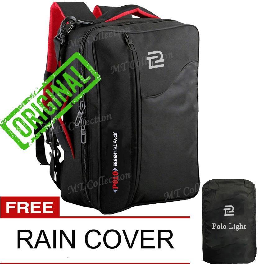 Polo Light Tas Ransel Daypack 3in1 Dengan Slot Laptop 14 Inch + Slot Organizer