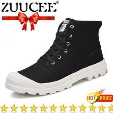 Zuucee Pria Pertengahan Betis Bot Martin Sepatu Ukuran Besar Tinggi-Terbaik  Sepatu Bot Bernapas Sepatu fa59ecc455