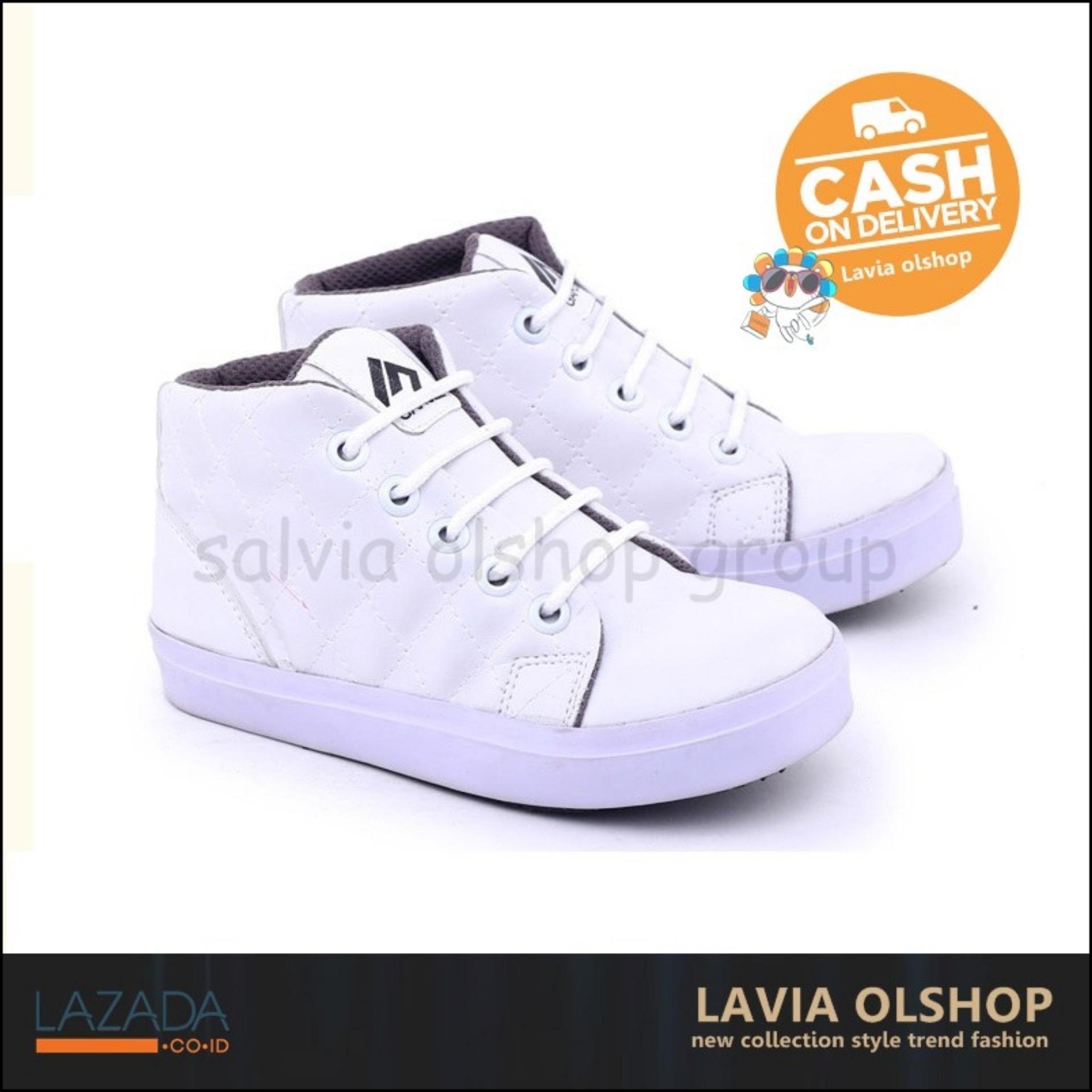 Shoes Sepatu Sneakers Anak Perempuan Lucu Dan Modis Model Terbaru GNW 9565 - Putih