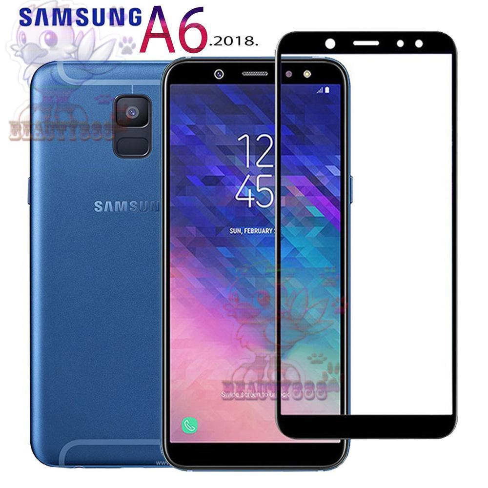 Beauty Tempered Glass Full Screen Black Samsung Galaxy A6 2018 9H Screen  Anti Gores Kaca   35cfad3d57