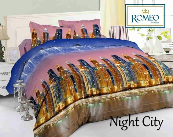 PALING DICARI Bedcover Romeo ukuran 180 x 200 / King / No.1 - Night City TERLARIS