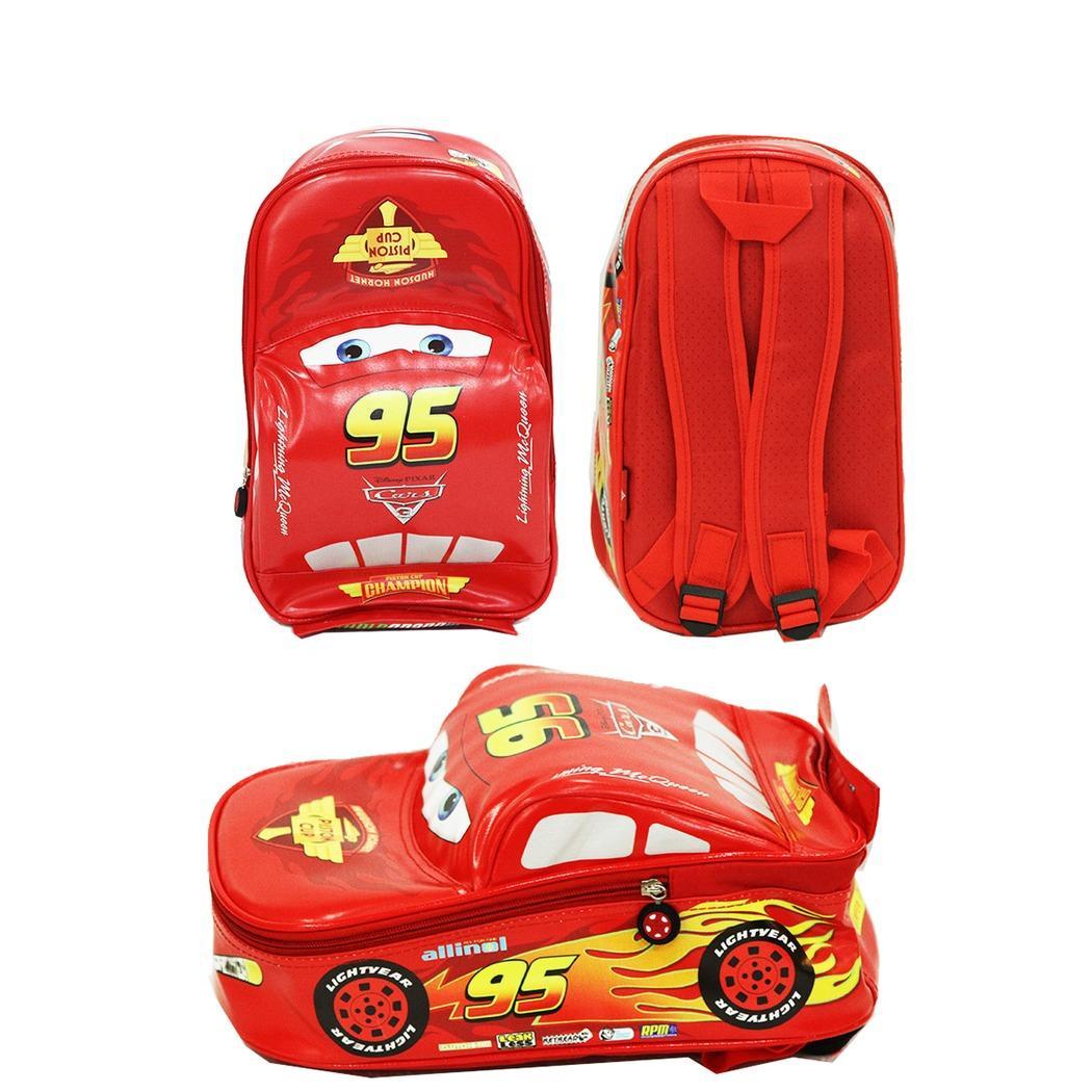 Tas anak anti basah Disney Cars 3D Lightning McQueen On The Road 31x21x12 cm