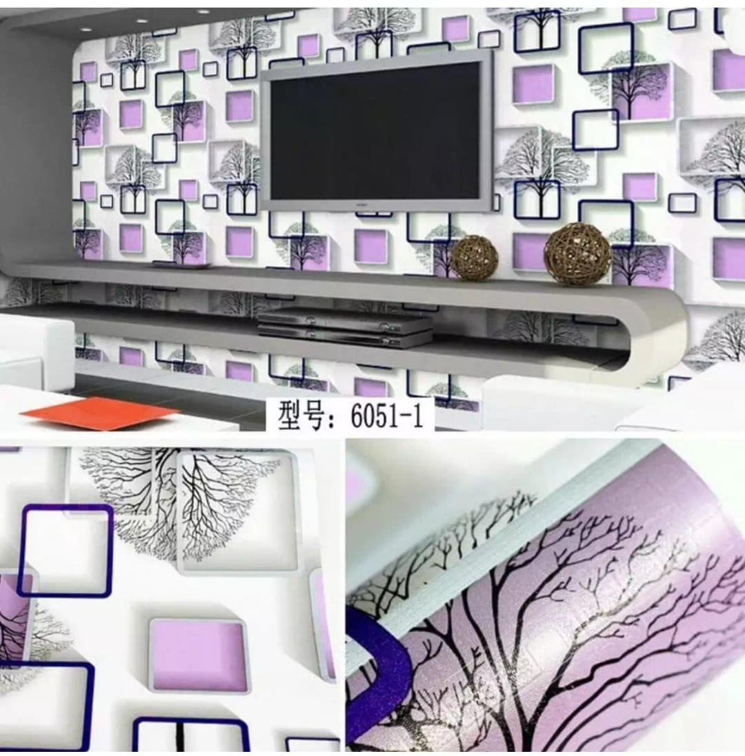 Elegant Wallpaper Sticker (Size 45cm X 10M) - Stiker Walpaper Dinding