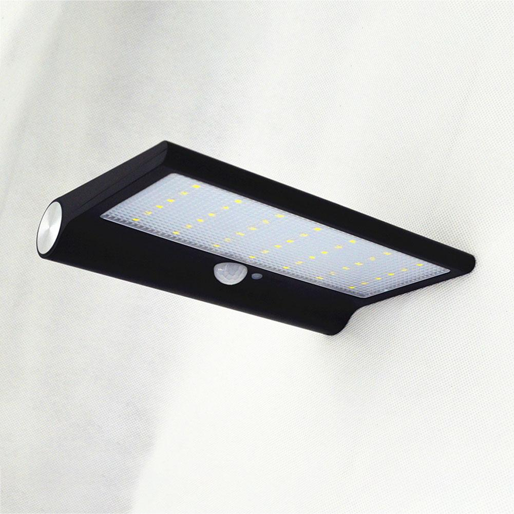 42 LEDs Solar Power Outdoor Waterproof Lamp Human Body Induction Wall Street Lawn Light