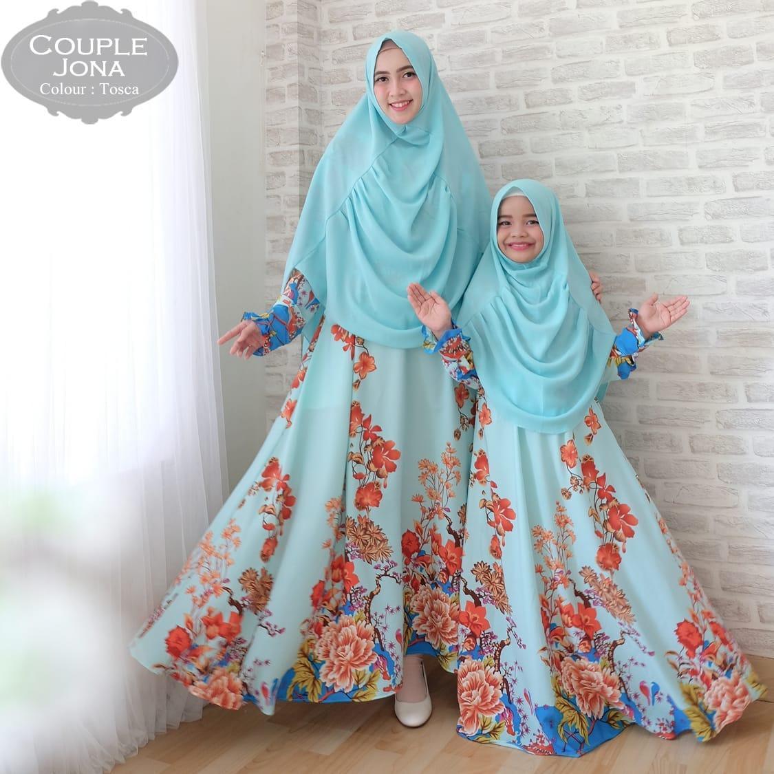 Kiara fashion gamis muslim syari maxmara lux amira ibu dan anak couple baju lebaran terbaru dan terkini fashionable