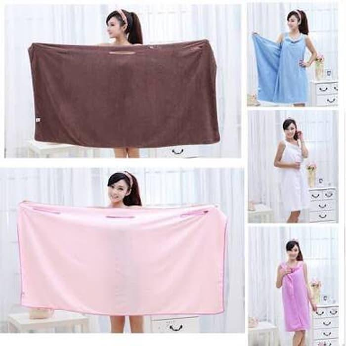 Jual Wearable Towel Baju Handuk Multifungsi HJDstuff Tokopedia Source · Wearable Towel Handul Multifungsi Promo