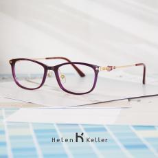 Helen Keller Sangat Ringan TR90 bingkai kacamata wanita bingkai lengkap  Berlian kacamata minus wanita Wajah Besar 6f5fc15ca8