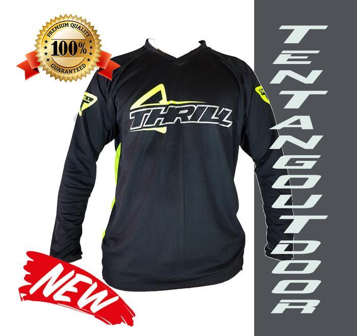 PREMIUM Jersey Downhill Cross Sepeda DH THRILL Baju Kaos F003 MTB BMX