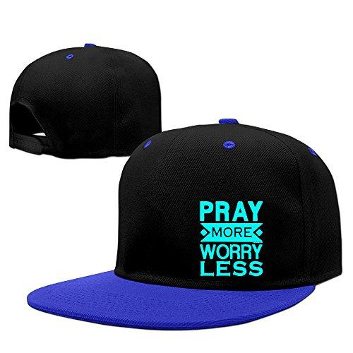Pray More Worry Less Christian Unisex Adjustable Sunscreen Trucker Hat Punk Hip-hop Caps