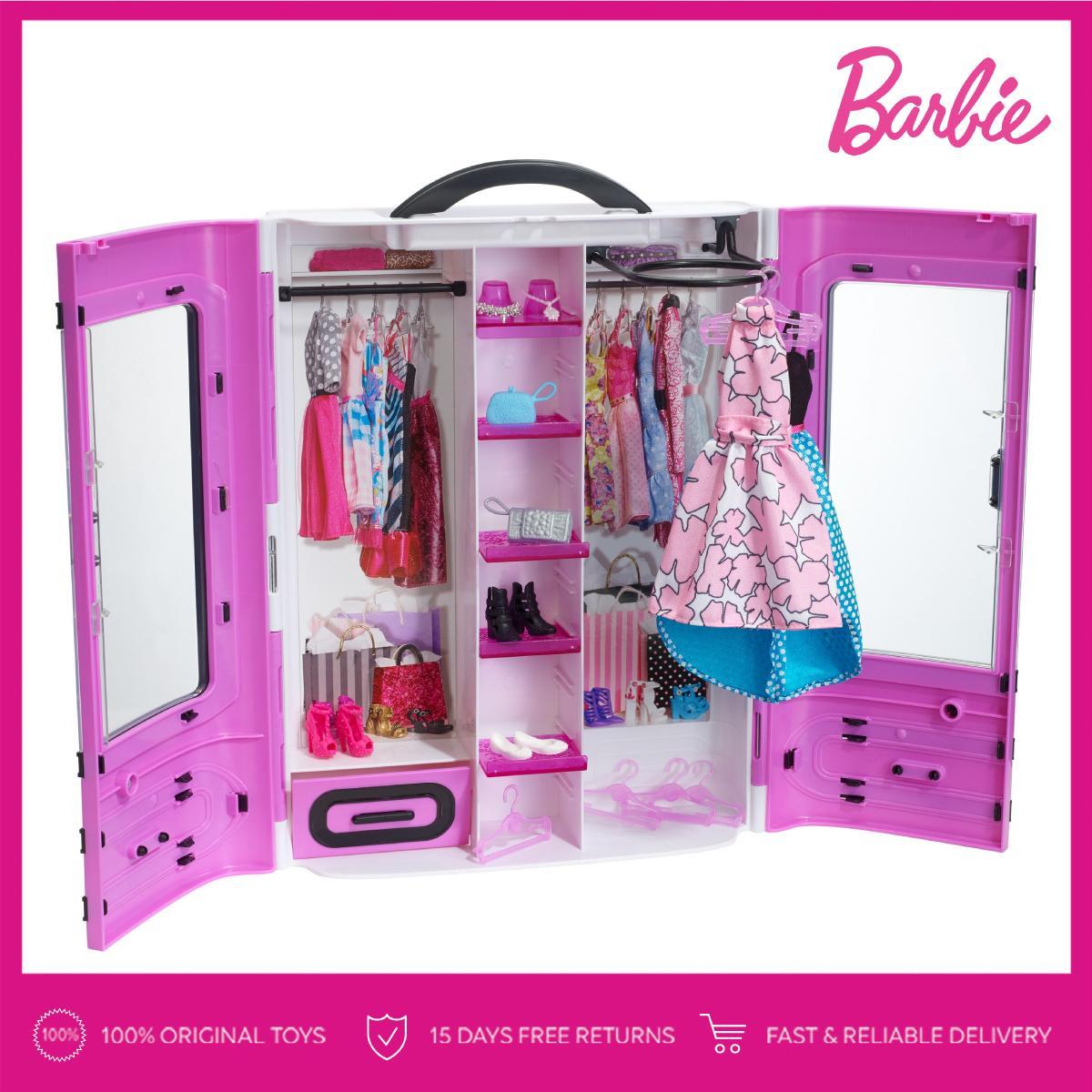 Barbie® Fashionistas Ultimate Closet™ (Purple) Lemari Baju Boneka Permainan  Toy Anak Perempuan b9a272b8c2