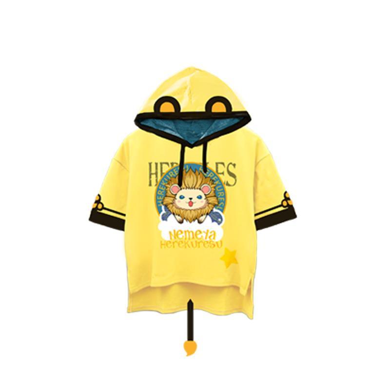 Manzong Mimpi Raya dan Tidur Pangeran 100 Hercules Singa Anime Sekitar Kesan Model Baju Kaos Musim Panas