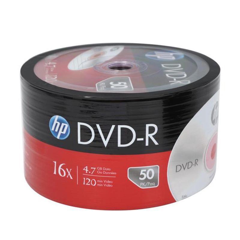 HP DVD-R Blank 16x 50pcs - Silver