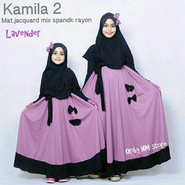 Kamila 2 gamis kids cantix ori by HM (3-4 tahun)