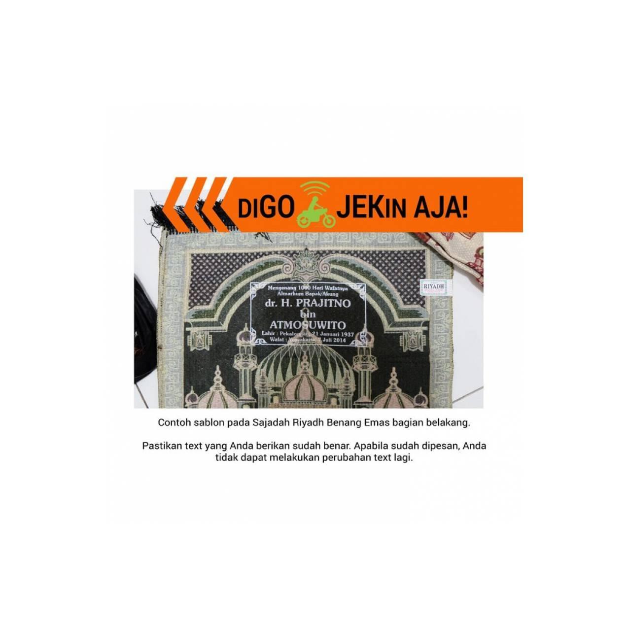 Sajadah Travel Riyadh Spec Dan Daftar Harga Terbaru Indonesia Okano Benang Emas 50x 100 Cm 10pcs Sablon Top Quality