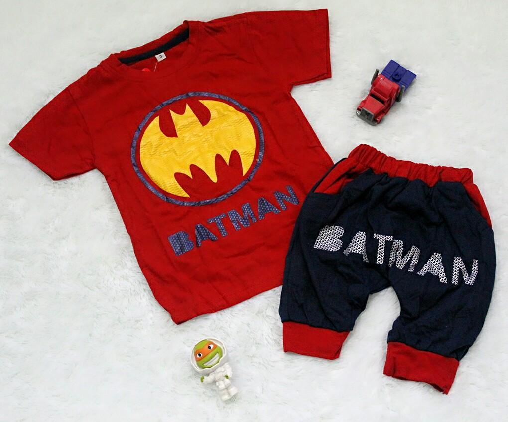 Setelan Baju Celana Bayi Anak - Bat Joger Serries