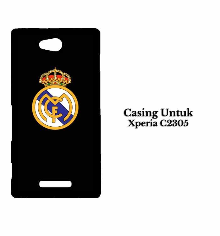 Casing Xperia C (C2305) real madrid dark fix Custom Hard Case Cover