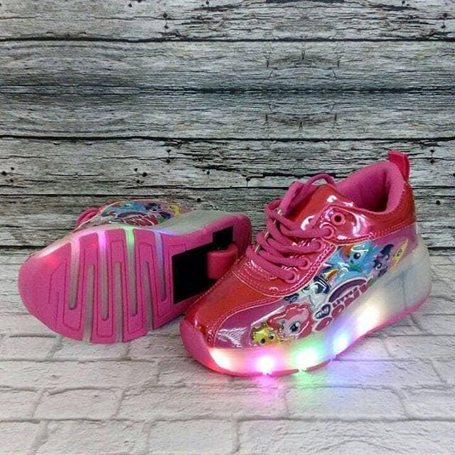 Sepatu Roda Little Pony Lampu Rose Glossy By Toserbaa.