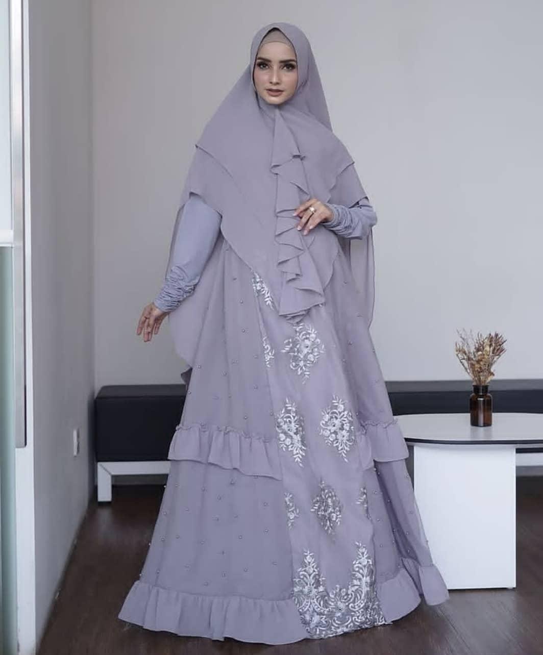 Gamis Syari Latifah syari bu Gallery Syarifah ORIGINAL - Gamis brokat
