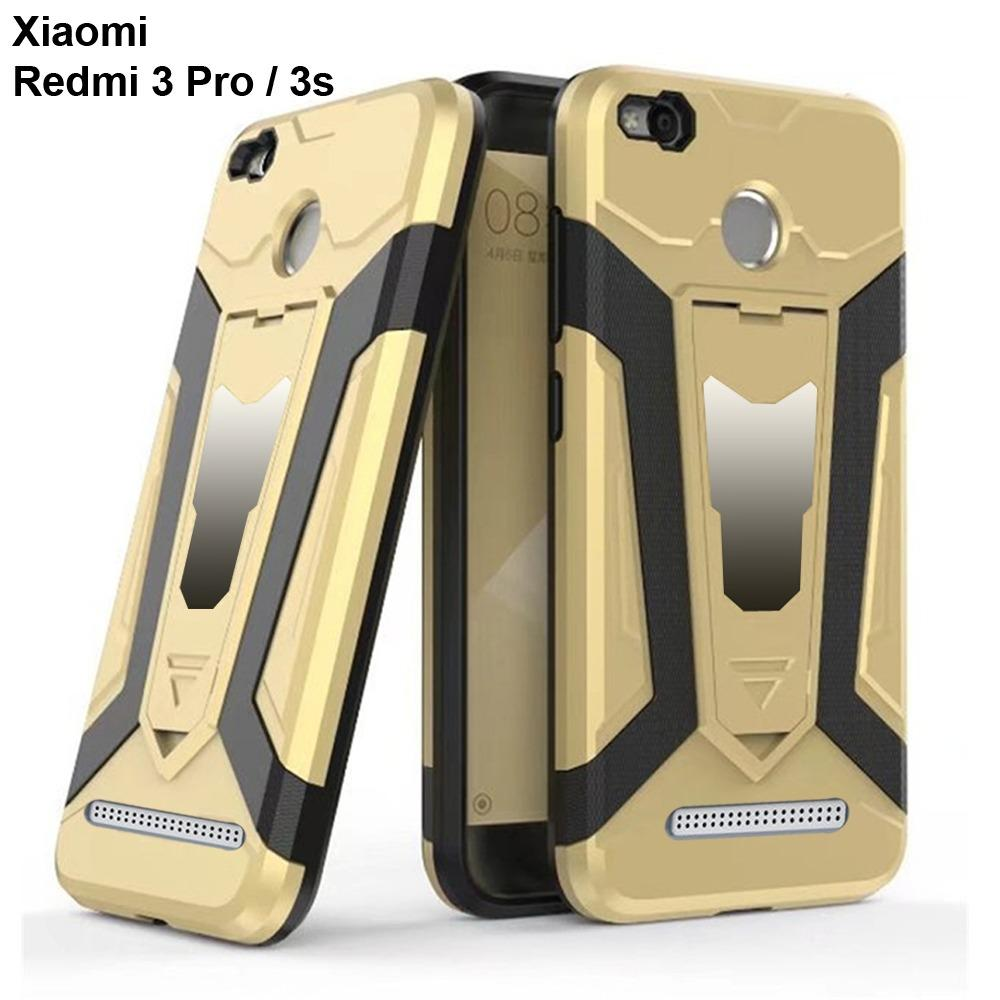 Case Iron Man for Xiaomi Redmi 3S Pro Robot Transformer Ironman Limited - Gold