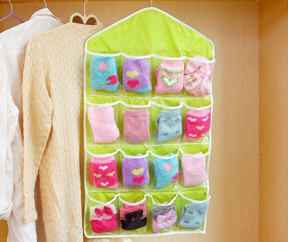 POUCH GANTUNG / Korean Underwear Pouch banyak sekat / GANTUNGAN SERBAGUNA - HIJAU - EDW 060