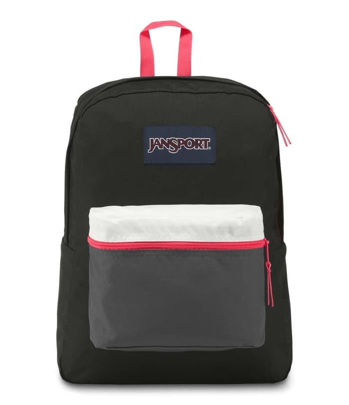 Tas Ransel JanSport Exposed Black/Fluorescent Red