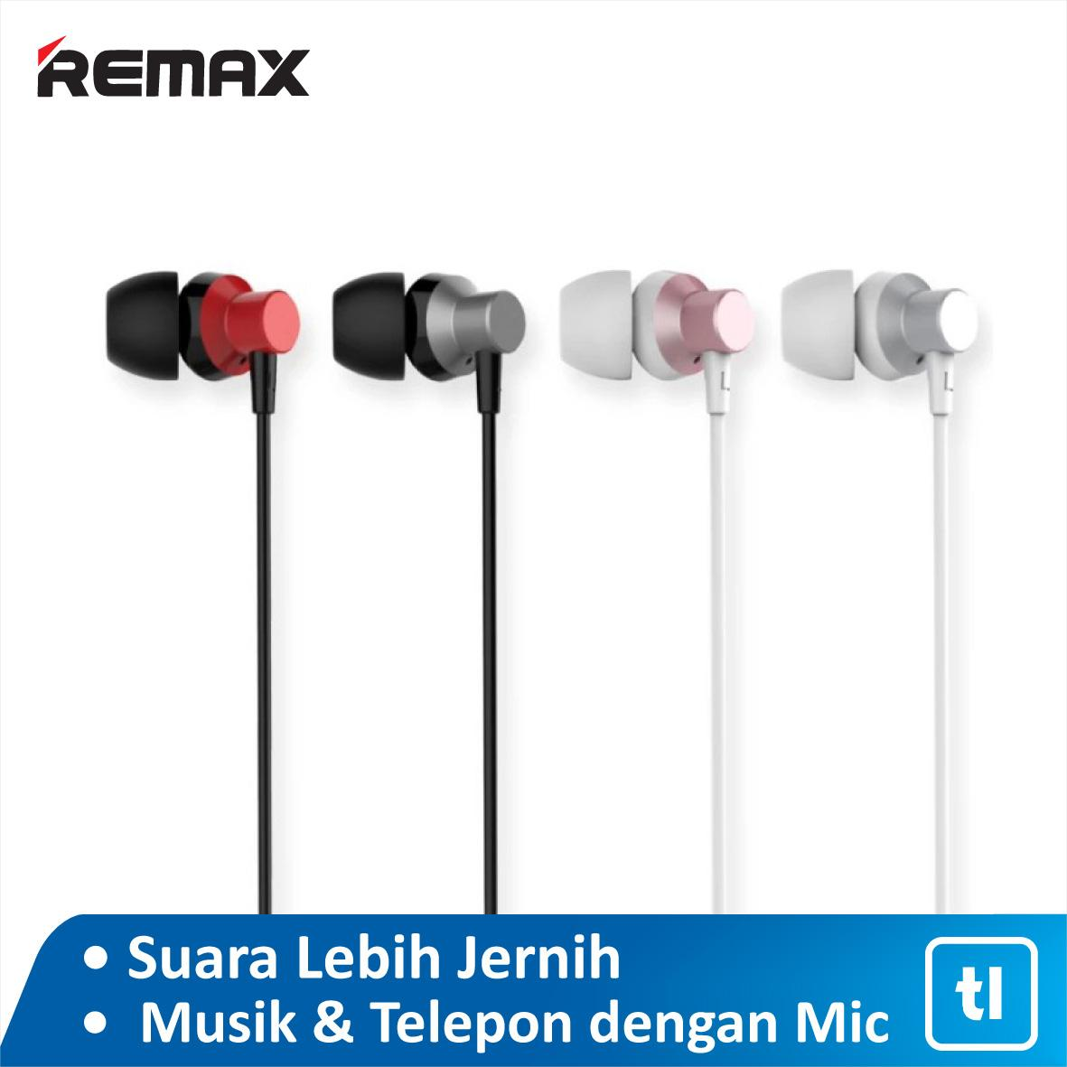 Remax RM 512 HD Metal Headset Earphone Microphone Garansi Resmi / Earphone Murah / Earphone Terbaik