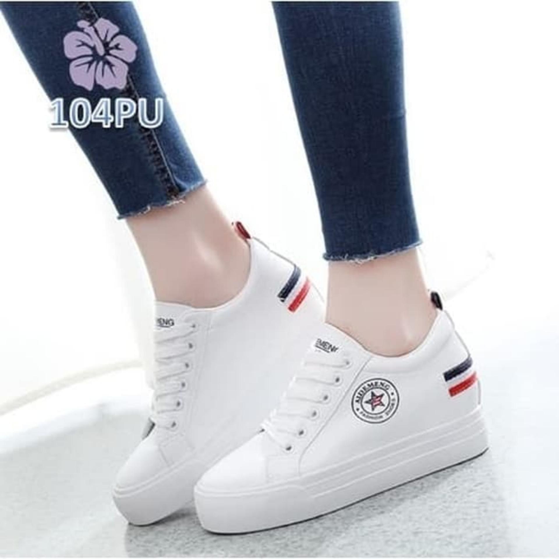 Sepatu Sneakers Wedges Star Aidemeng Putih BS