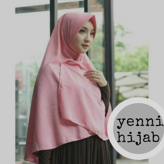 Jilbab khimar jumbo simple pet antem 80 x 110 bergo syari / syar'i instant / hijab instan wolfis (peach (BT))