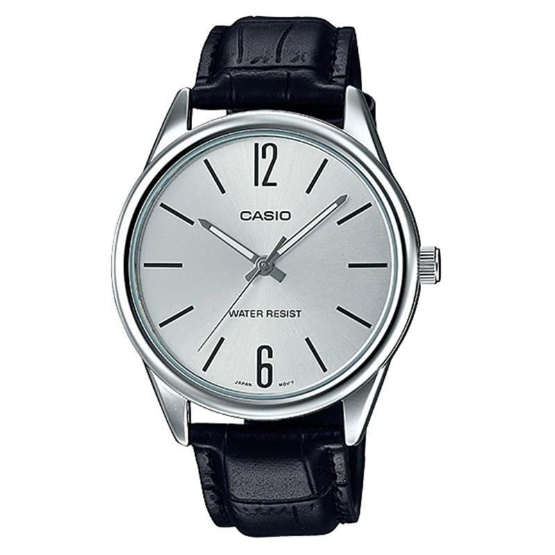 CASIO ORIGINAL Standard MTP-V005L-7B - Jam Tangan Pria - Black Silver - f51033f1ff