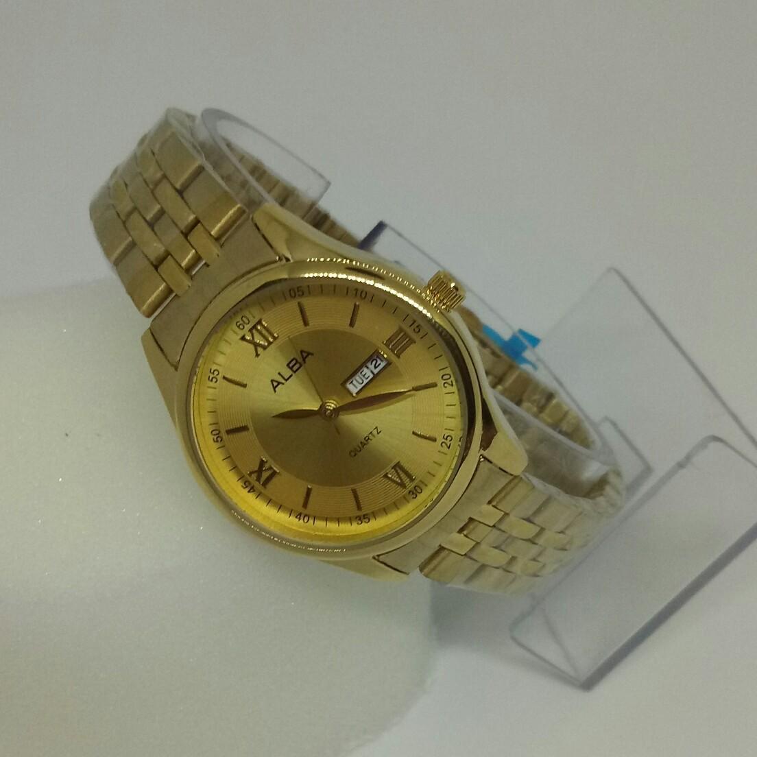 ALBA Jam Tangan Wanita-jam tangan wanita fashion - date on - rantai
