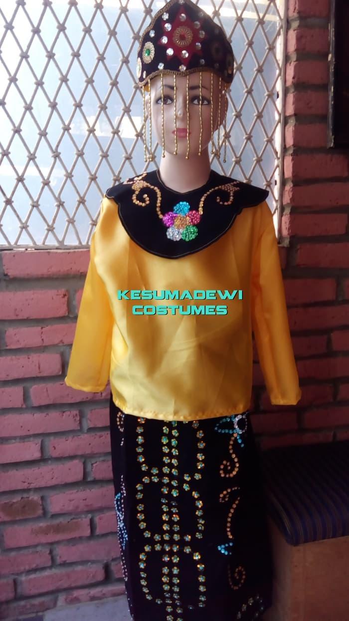 Terbaru! Baju Adat Kostum Karnaval Anak Wanita Daerah Betawi - ready stock