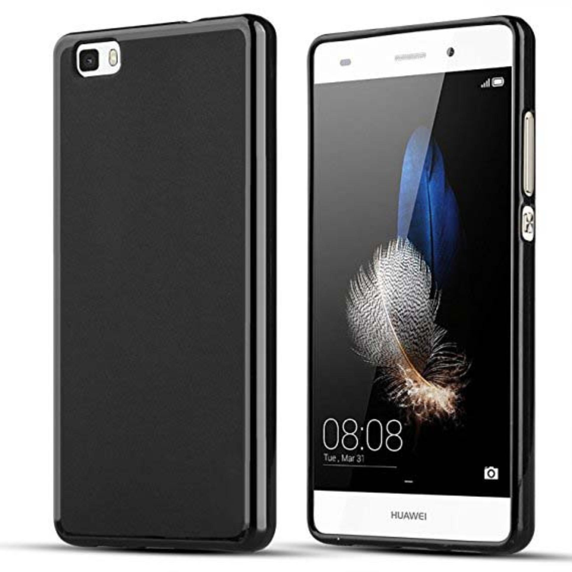 DarkNight for Huawei Ascend P8 Lite / Dual / LTE | Slim Case Black Matte Softcase Premium (Anti Min