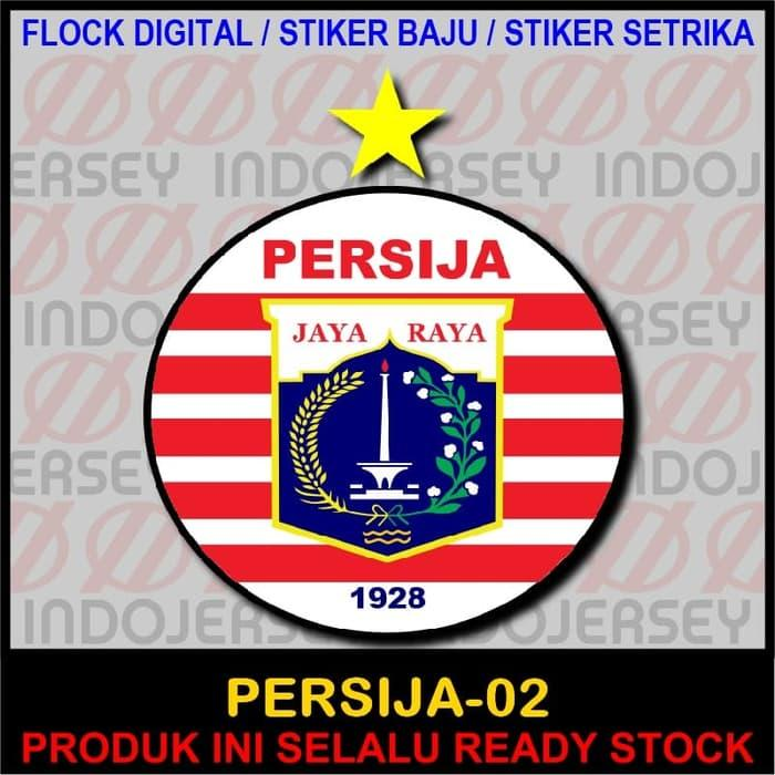 Hemat 10%!! Patch Flock Setrika - Logo Indonesia - Persija Jakarta 02 - ready stock