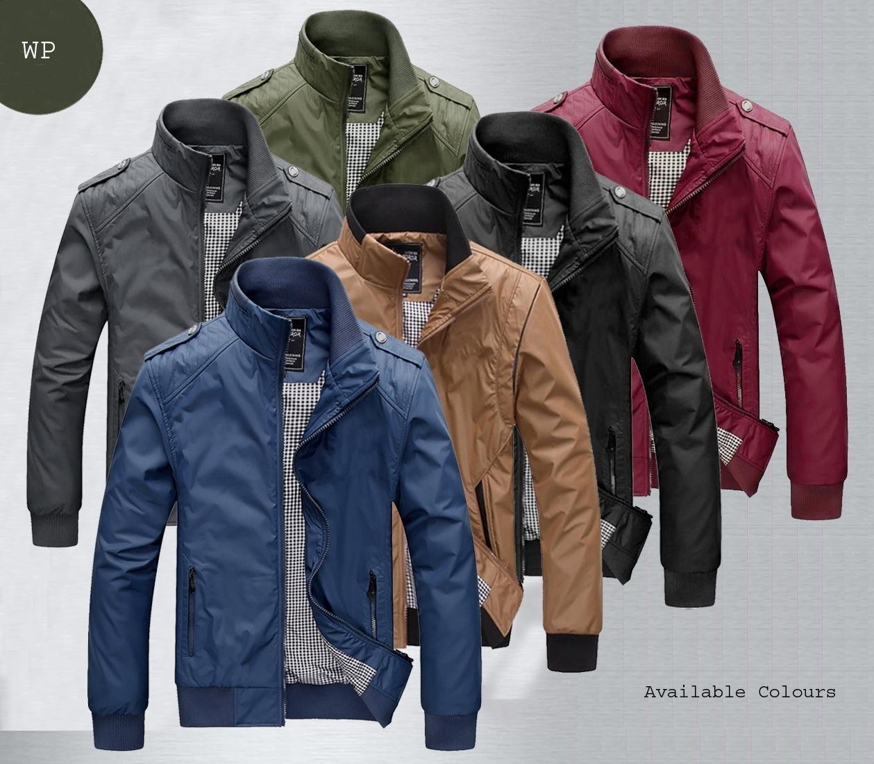 Jaket Wp Merah Marun Bahan Waterproof Anti Air Tersedia 6 Warna Pilihan