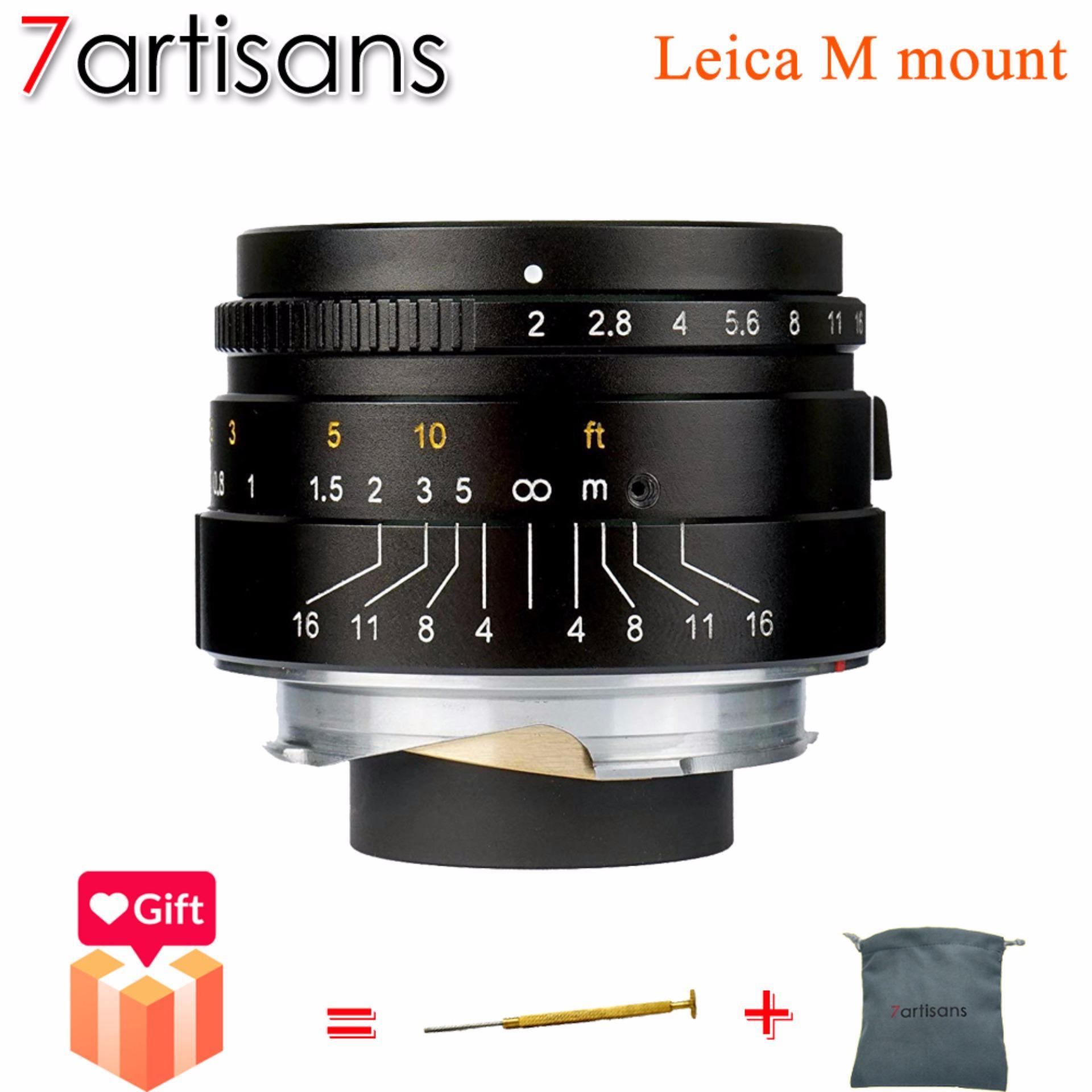 7artisans 35mm F2.0 Leica M Mount Fixed Lens for Leica M-Mount Cameras Like Leica M-M Leica M240 Leica M3 Leica M6 Leica M7 Leica M8 Leica M9 Leica M9p Leica M10 (Black)