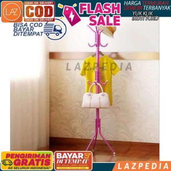 Pencari Harga Laz COD - Multifunction Standing Hanger / Penggantung Baju / Hanger Multifungsi / Hanger Serbaguna / Penggantung Anti Karat / Warna Random ...