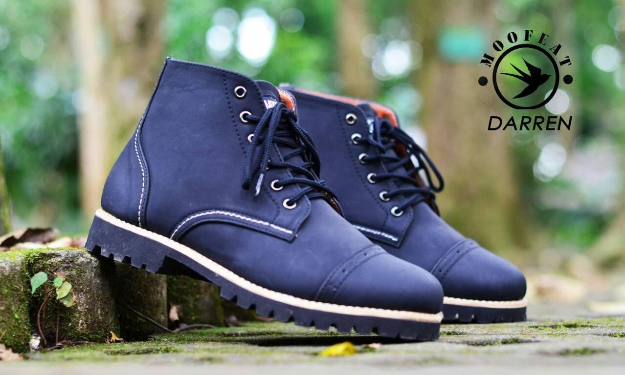 Jual Sepatu Casual Formal Moofeat Original Black Harga Rp 199900 Carlo Boots Pria Brand Daren Kulit