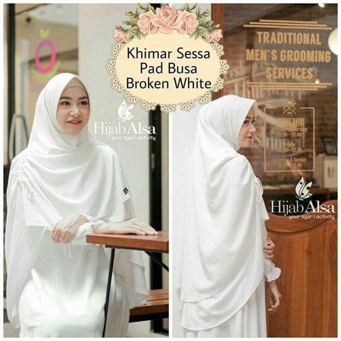 Hijab Alsa Khimar Serut Sessa Size XL Jilbab Instan Hijab Jumbo A3045