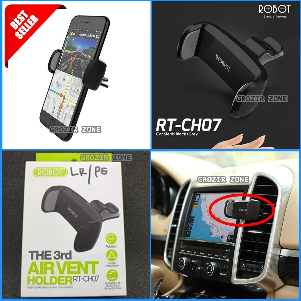 ROBOT RTCH07 Holder Stent Ac Mobil / Dudukan Di Ac Mobil For All Smartphone Original 100