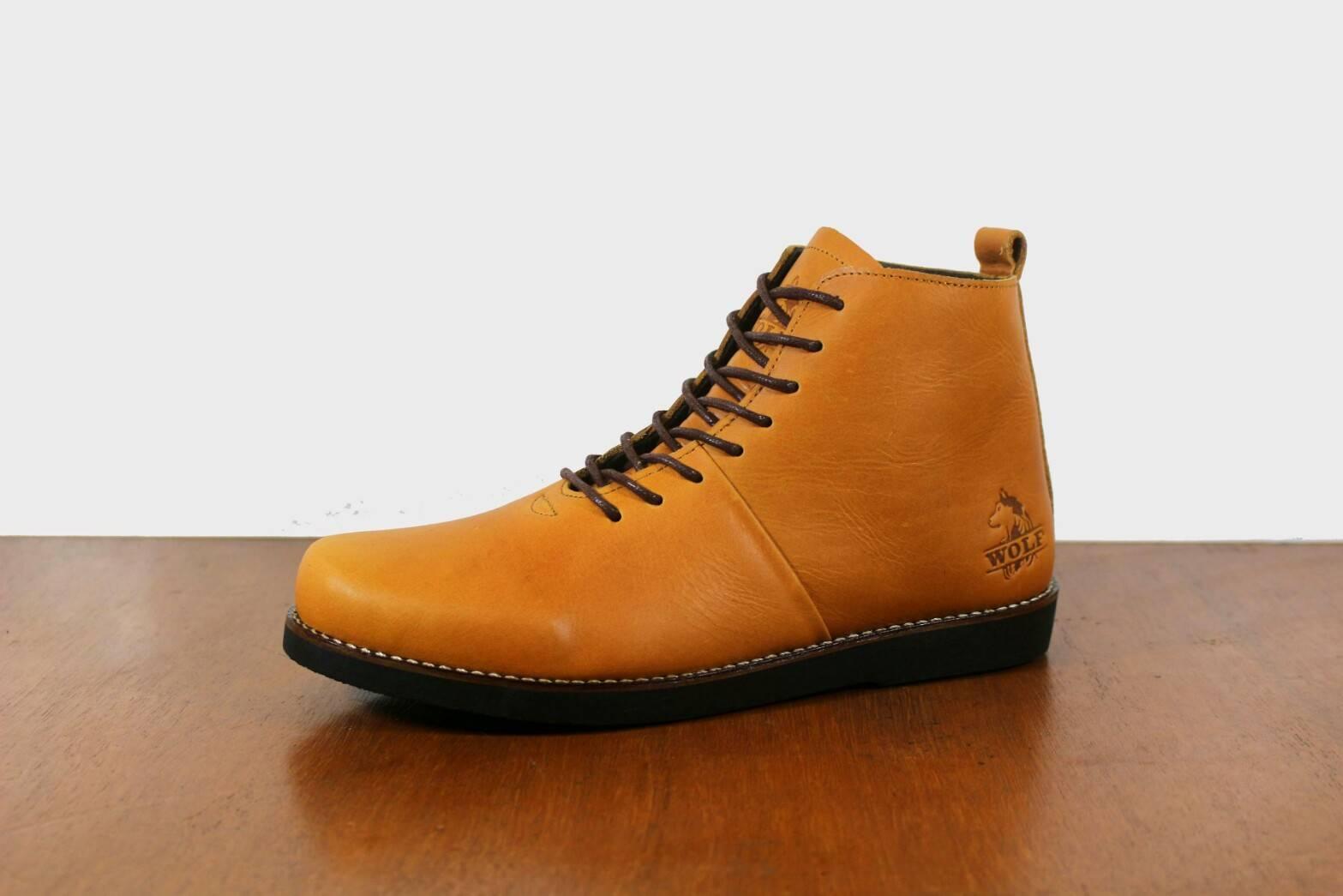 Sepatu Boots Brodo Original - Sepatu Kulit Asli - Sepatu Boots Laris