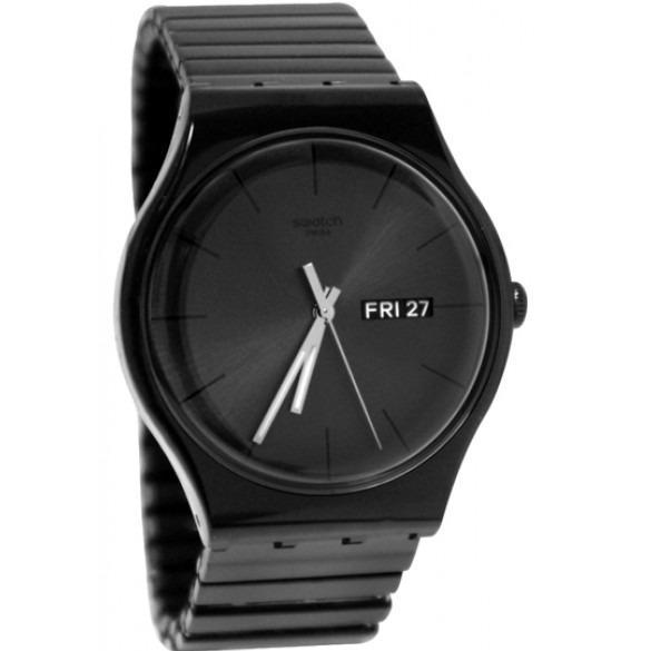 Swatch - Jam Tangan Pria dan Wanita ORIGINAL - UNISEX - Hitam - SUOB708B