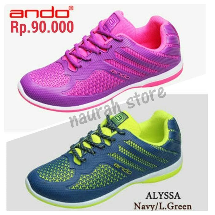 HARGA PROMO!!! Sepatu Sport Running Fitness Olahraga Senam Original Ando Alyssa - AduoIv