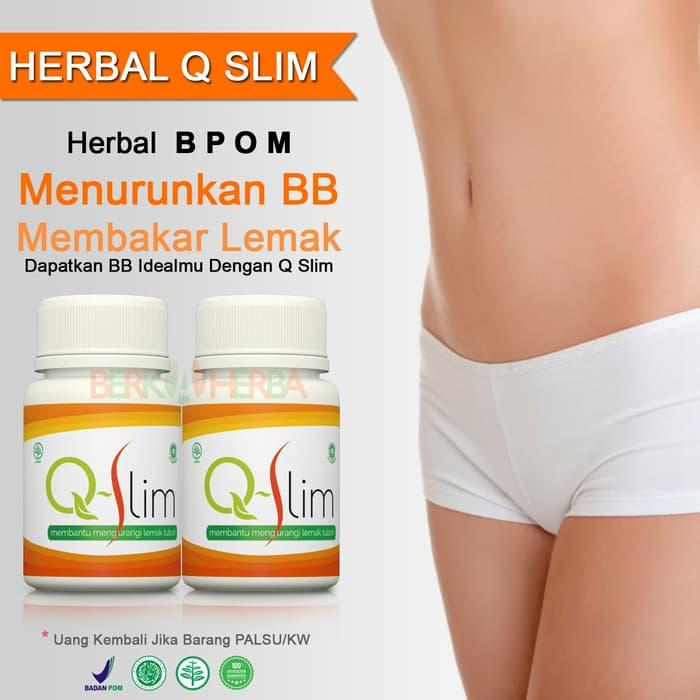 HOT SPESIAL!!! Q SLIM - Herbal Diet Body Slim Kapsul BPOM Pelangsing Seperti Fiforlif - Mp2TG0