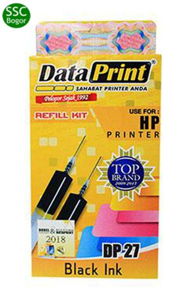 Data Print DP 27 Tinta Refill for Cartridge Printer HP - Hitam [2 x 20 cc]
