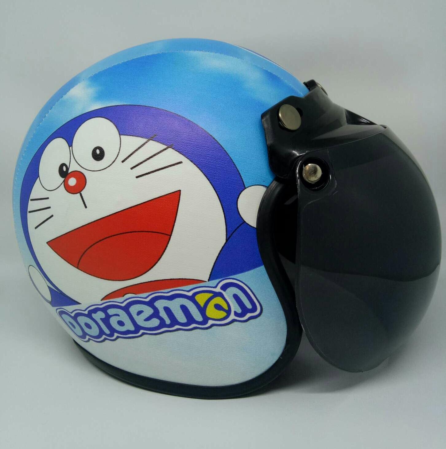 Helm Bogo Anak 2-10 tahun Motif Doraemon kaca anak
