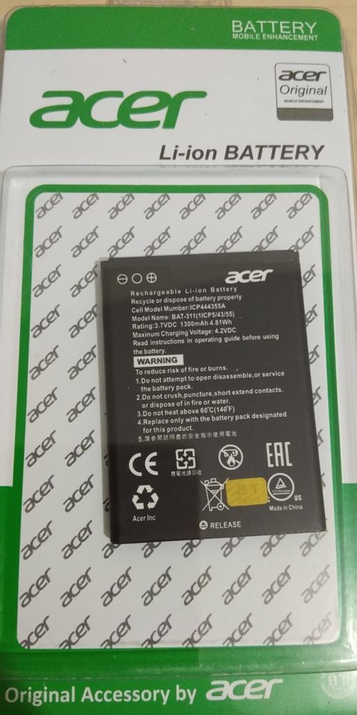 ORIGINAL Baterai Batrai Batre Battre Batery Battery Acer Liquid Z200 Z205 Z220 M220 BAT-A311