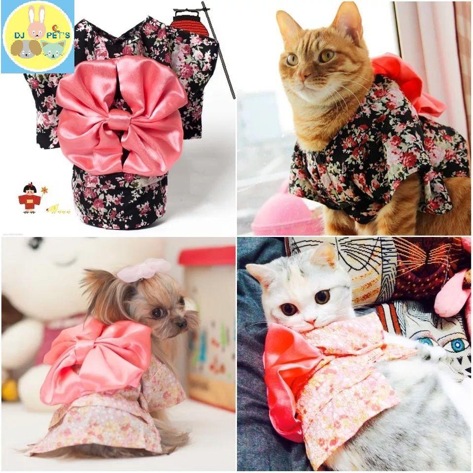 Baju anjing dan baju kucing kostum kimono pet clothes PET1039